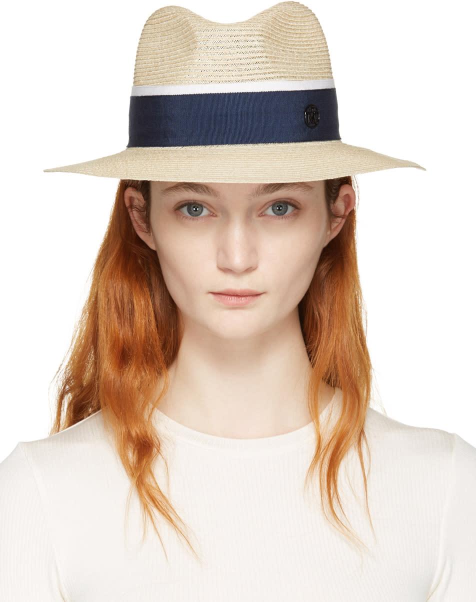 Maison Michel Beige Straw Henrietta Panama Hat