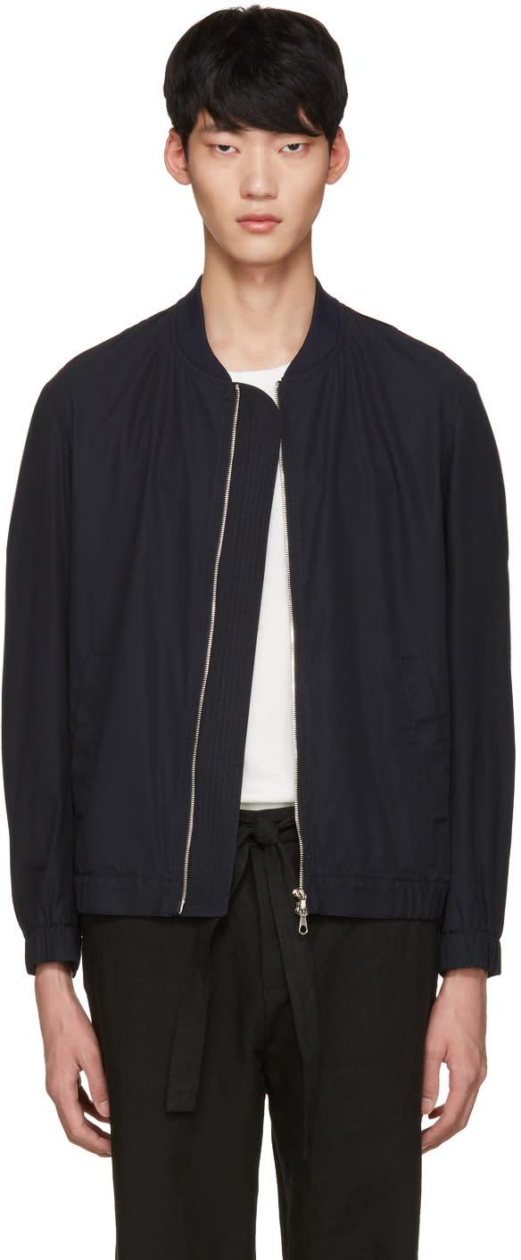 Tomorrowland Navy Twill Bomber Jacket