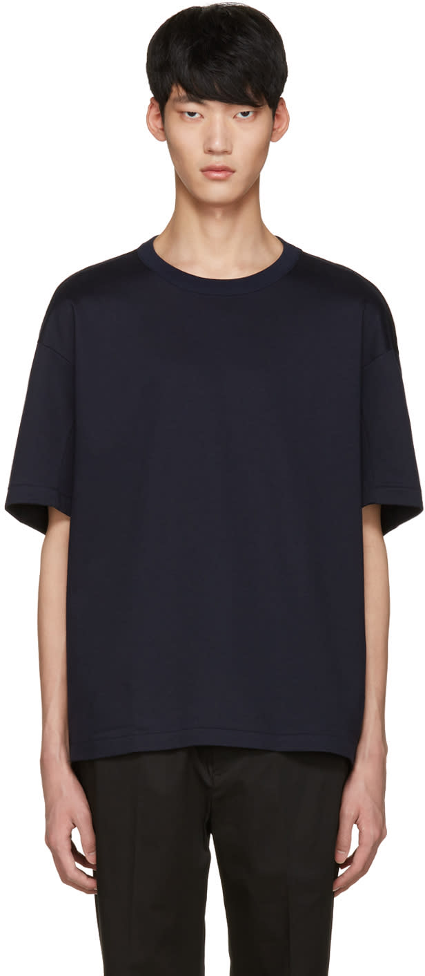 Tomorrowland Navy Panel Crew T-shirt