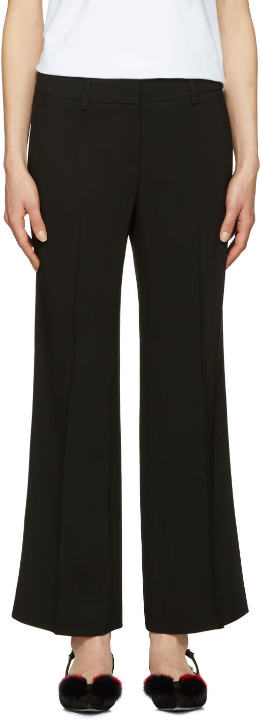Image of Emilio Pucci Black Wide-leg Trousers