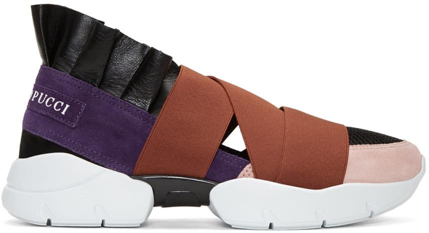 Emilio Pucci Multicolor Slip-on Sneakers