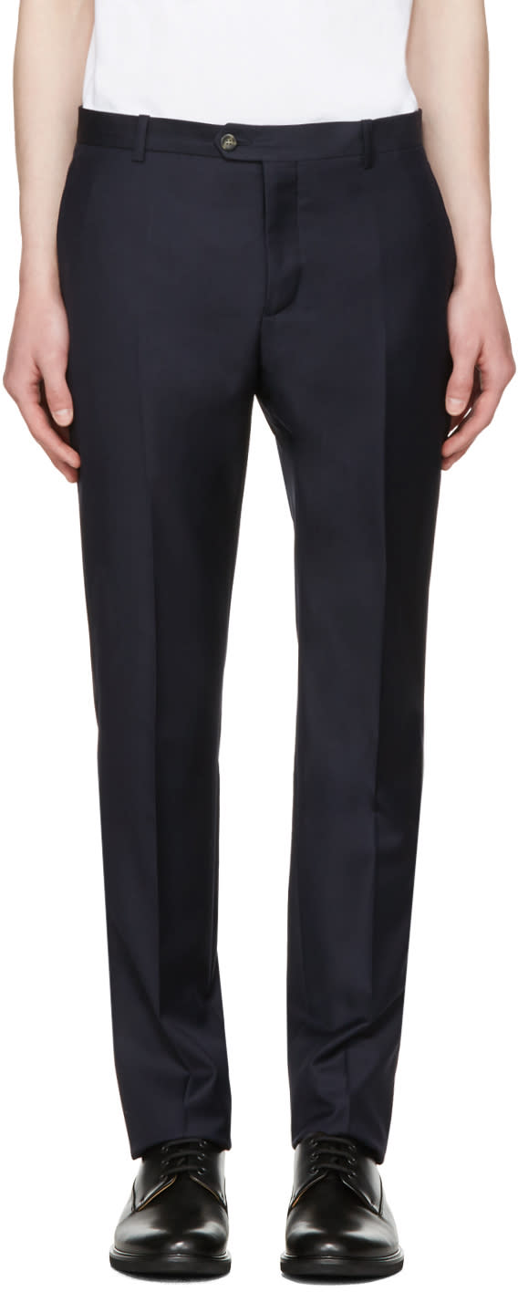 Editions MR Navy Tailored Wool Trousers