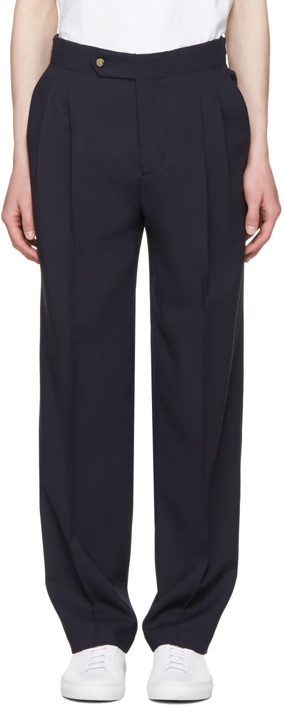 Editions MR Navy High Waist Trousers