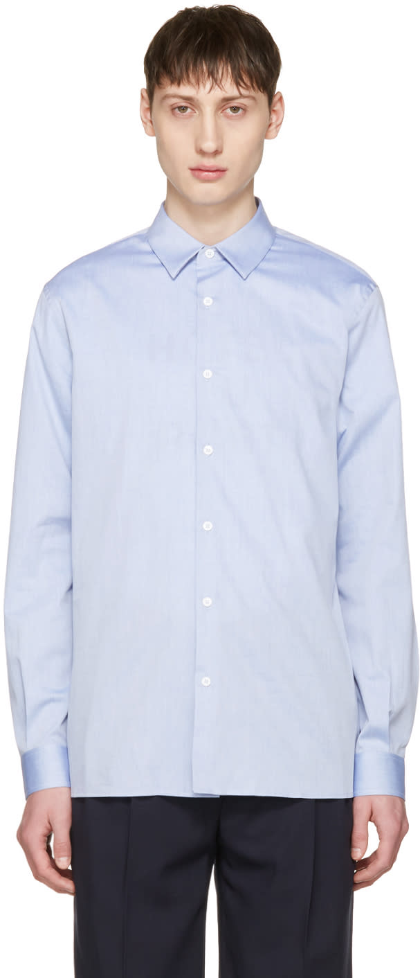 Editions MR Blue French Collar Shirt