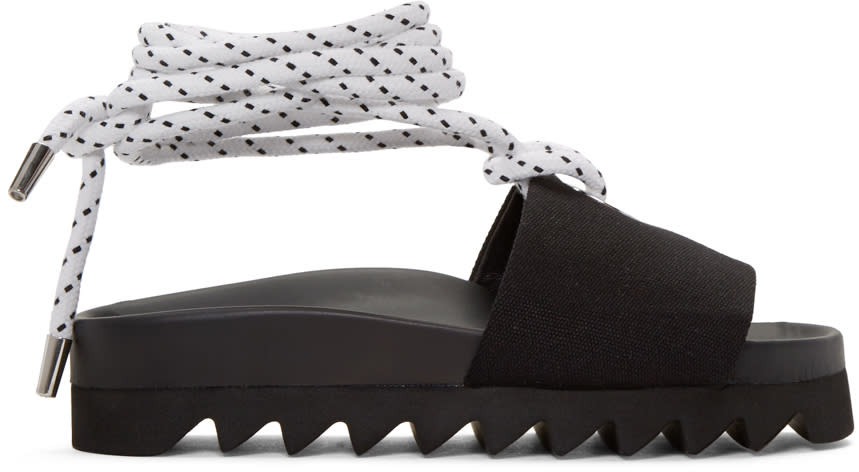 Joshua Sanders Black Sailor Slide Sandals