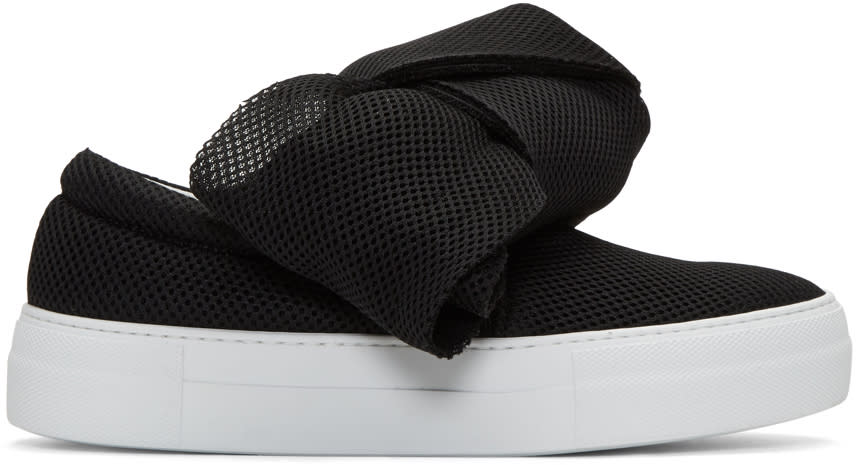 Joshua Sanders Black Bow Double Slip-on Sneakers