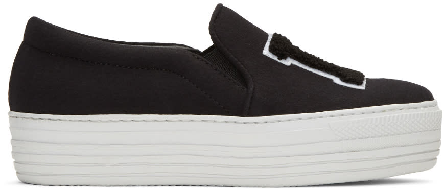 Joshua Sanders Black la Double Slip-on Sneakers