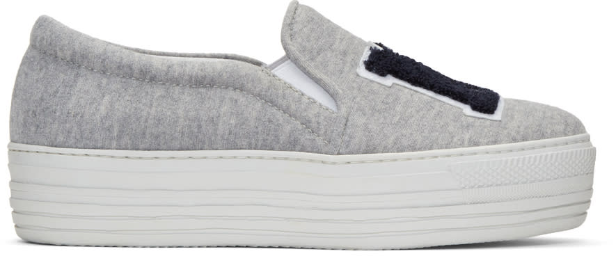 Joshua Sanders Grey ny Double Slip-on Sneakers