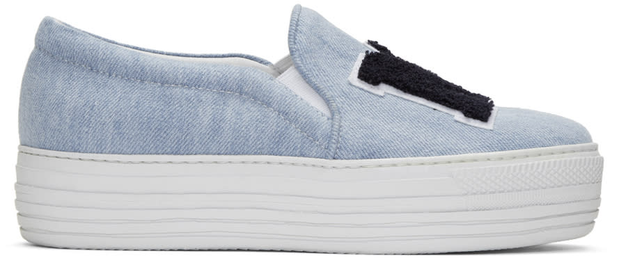 Joshua Sanders Blue ny Double Slip-on Sneakers