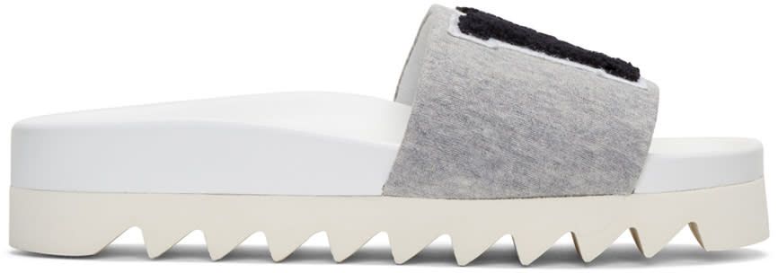 Joshua Sanders Grey ny Slide Sandals