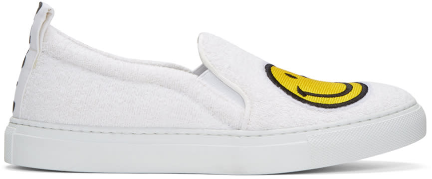 Joshua Sanders White Smile Slip-on Sneakers