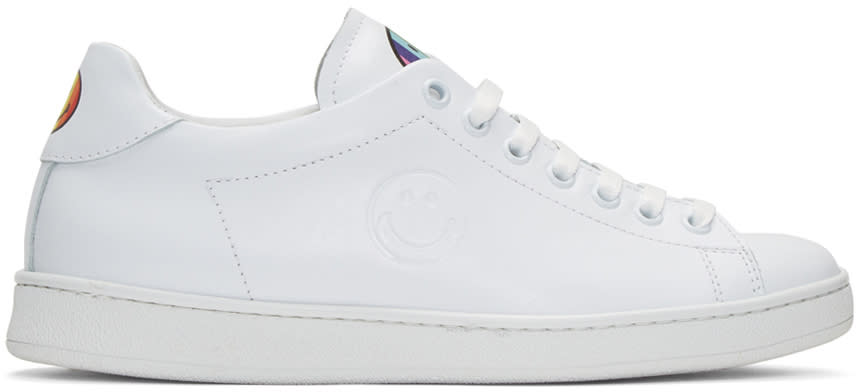Joshua Sanders White Smile Sneakers
