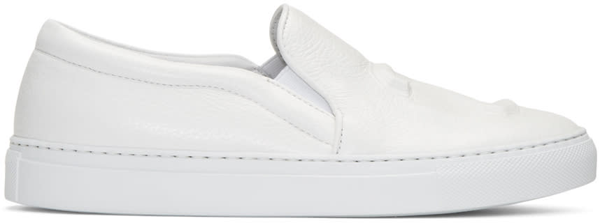 Joshua Sanders White 23 Slip-on Sneakers