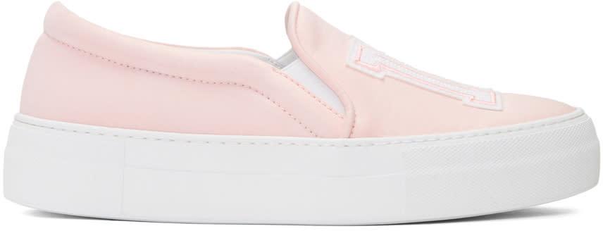 Joshua Sanders Pink Satin Ny Slip-pm Sneakers