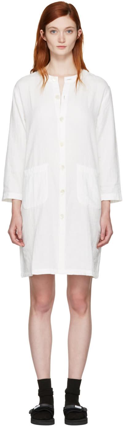 Blue Blue Japan White Shirt Dress