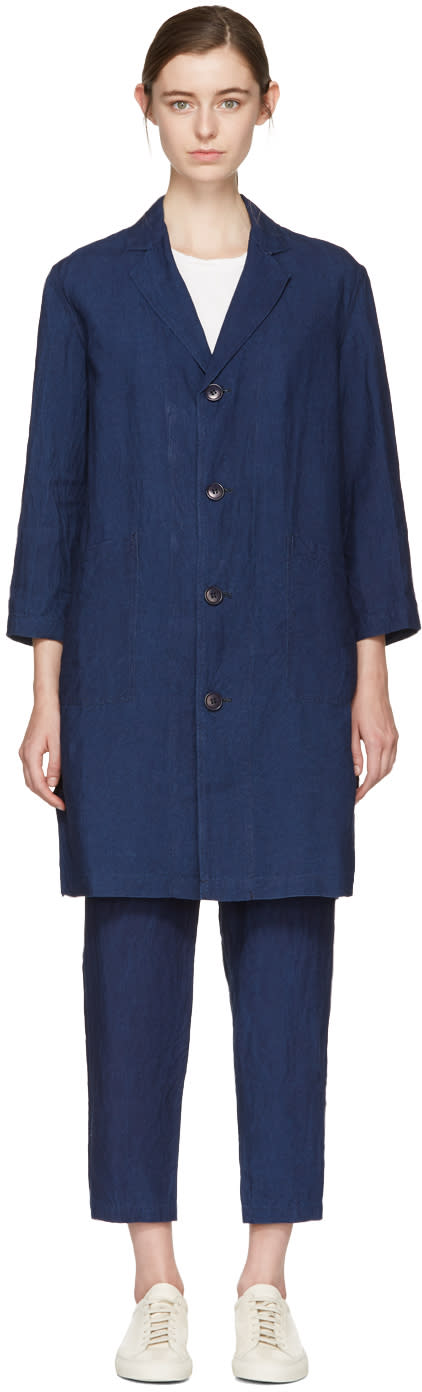 Blue Blue Japan Indigo Linen Engineer Coat