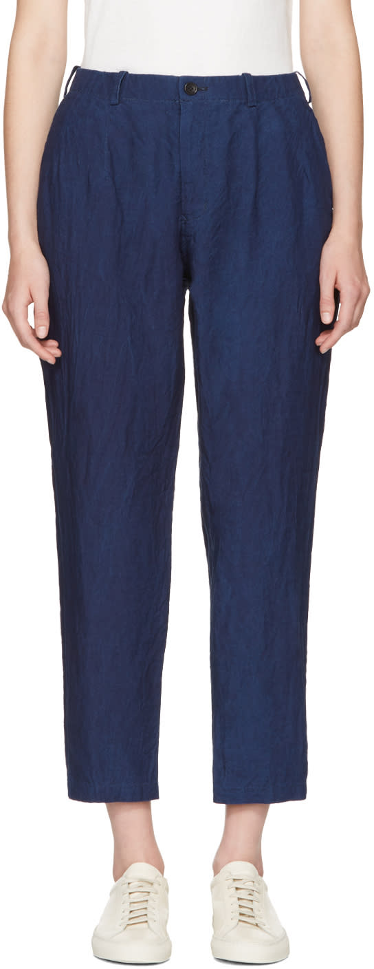 Image of Blue Blue Japan Indigo Linen Trousers
