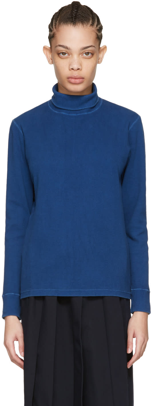 Image of Blue Blue Japan Blue Rib Turtleneck