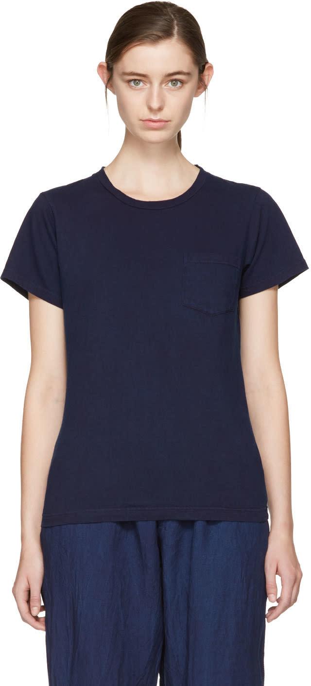 Blue Blue Japan Indigo Crewneck Pocket T-shirt