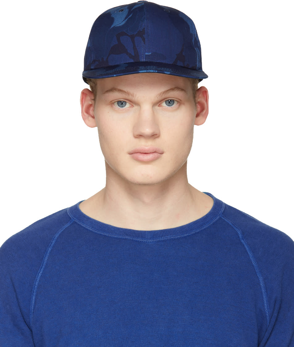 Image of Blue Blue Japan Blue Magnolia Classic Baseball Cap