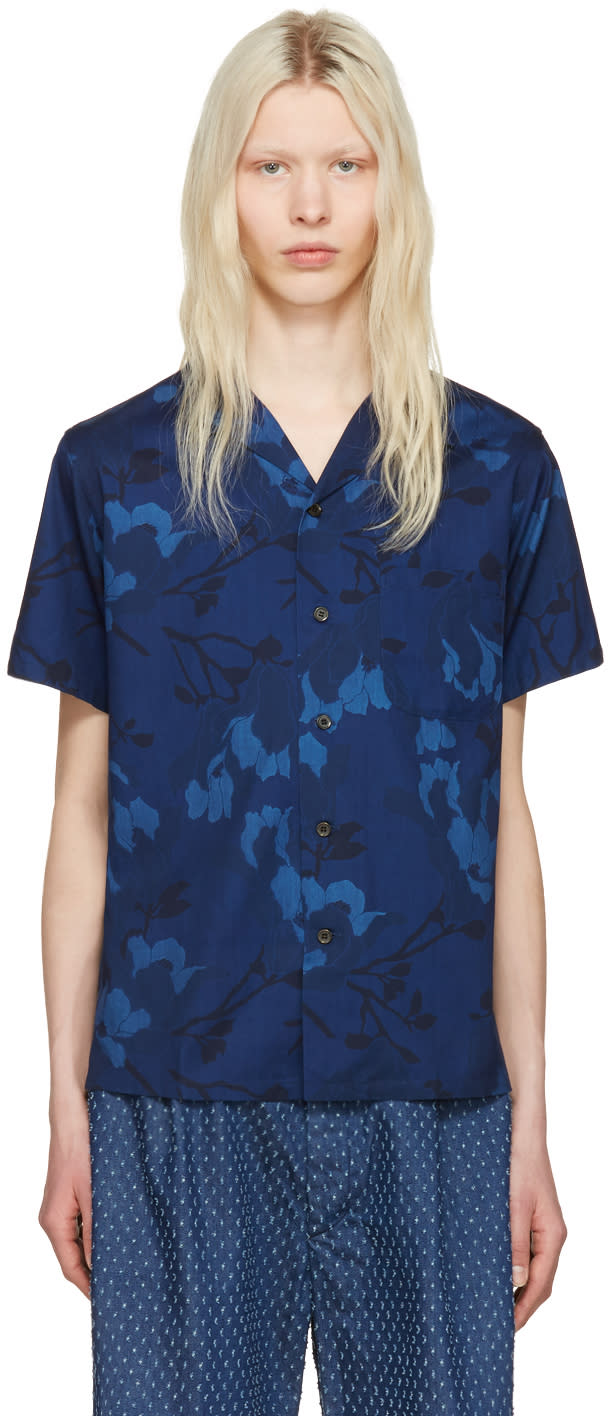 Image of Blue Blue Japan Blue Magnolia Shirt