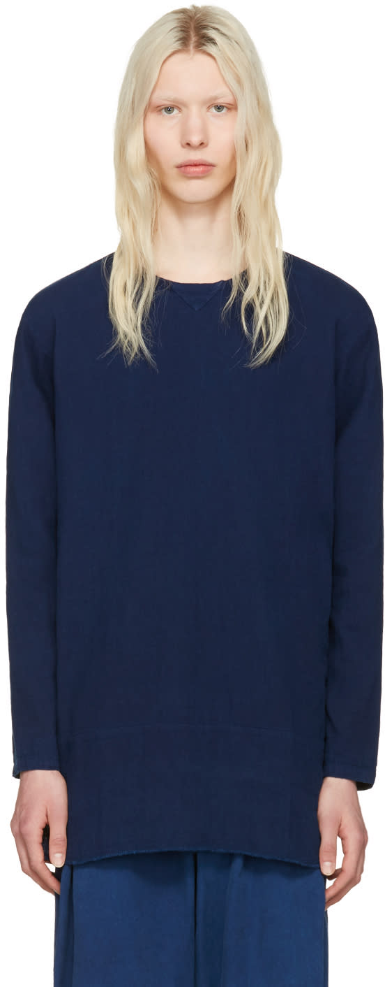 Blue Blue Japan Indigo Cotton Pullover