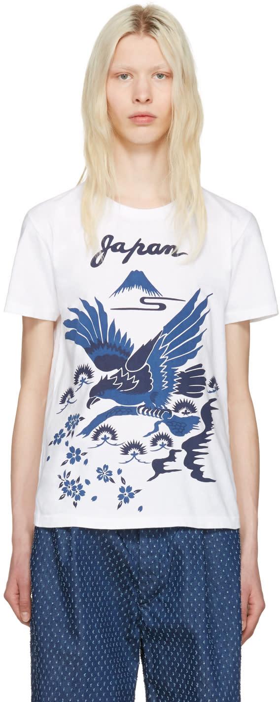 Blue Blue Japan White Hawk T-shirt