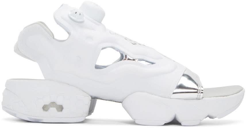 Reebok Classics White Instapump Fury Sandals