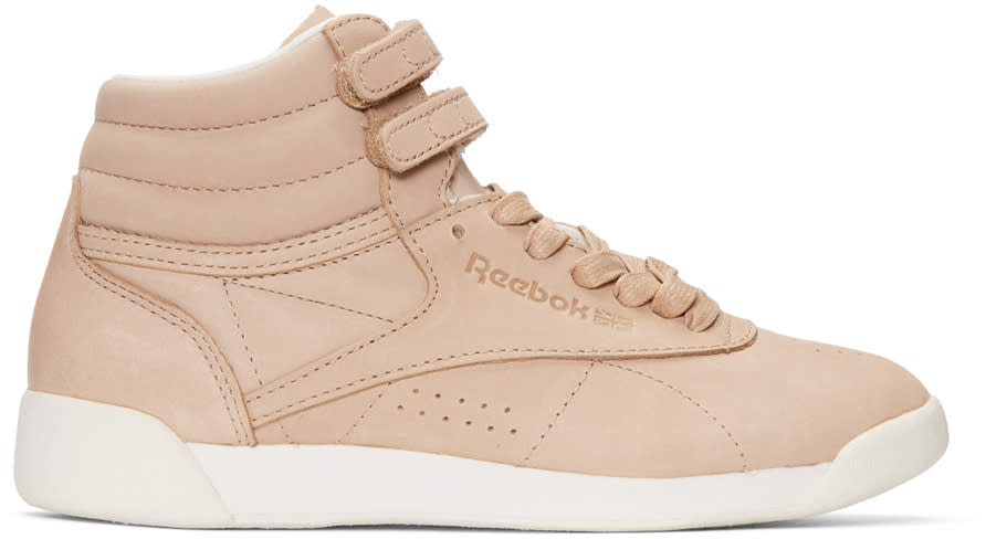 Reebok Classics Pink Face Edition Freestyle High-top Sneakers
