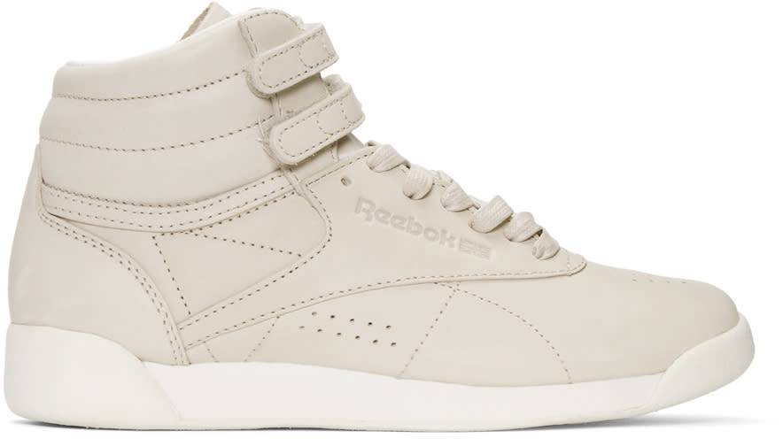 Reebok Classics Grey Face Edition Freestyle High-top Sneakers