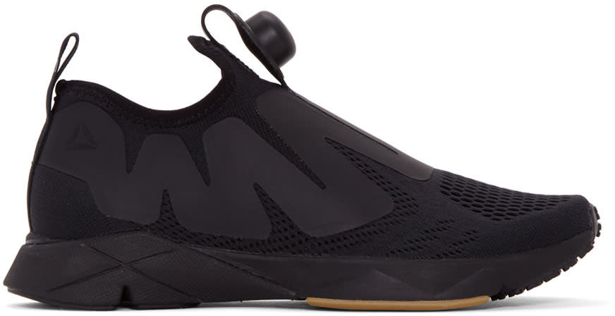 Image of Reebok Classics Black Pump Supreme Engine Sneakers