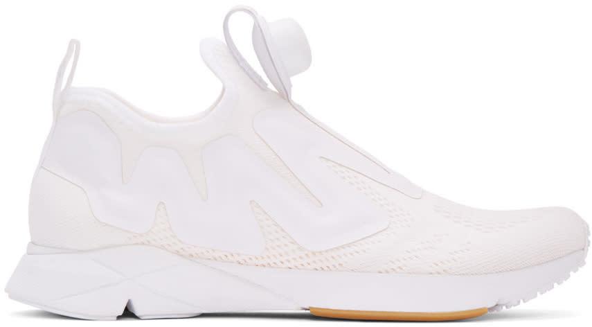 Reebok Classics White Pump Supreme Engine Sneakers