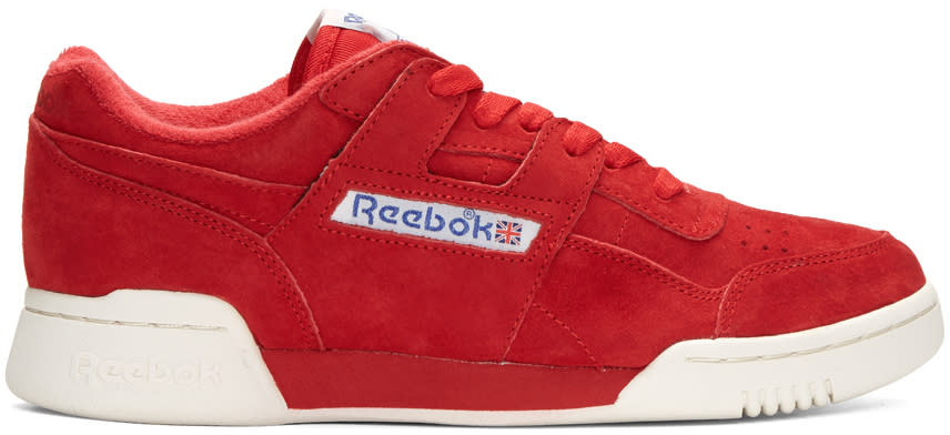 Reebok Classics Red Suede Vintage Workout Sneakers