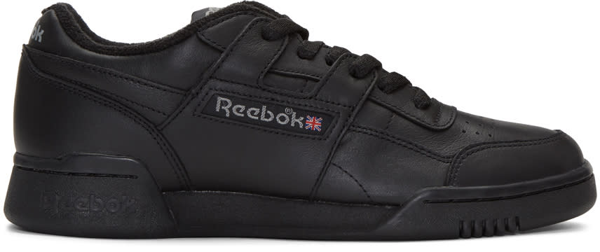 Reebok Classics Black Vintage Workout Sneakers