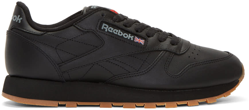 Reebok Classics Black Leather Classic Sneakers