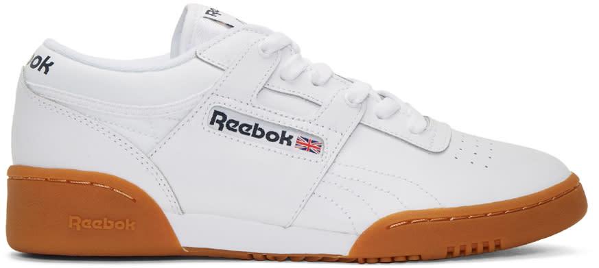 Reebok Classics ホワイト ワークアウト スニーカー