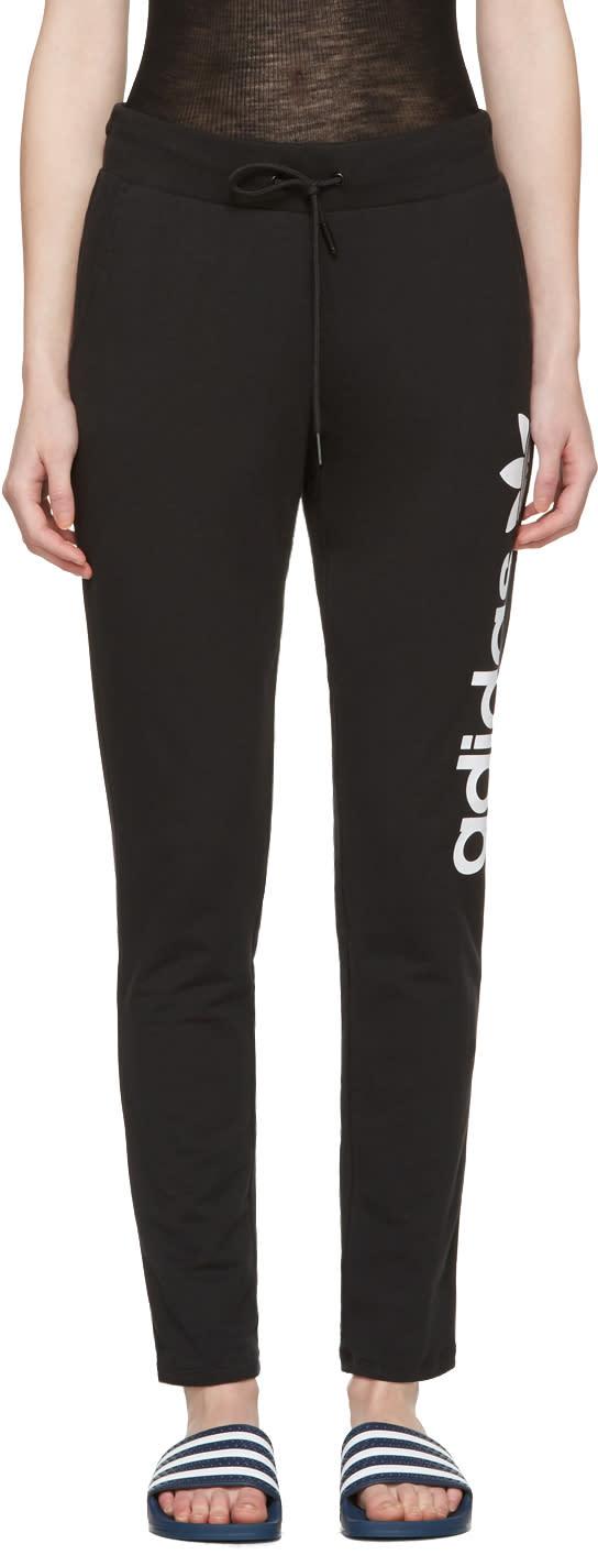 Image of Adidas Originals Black Logo Track Pants