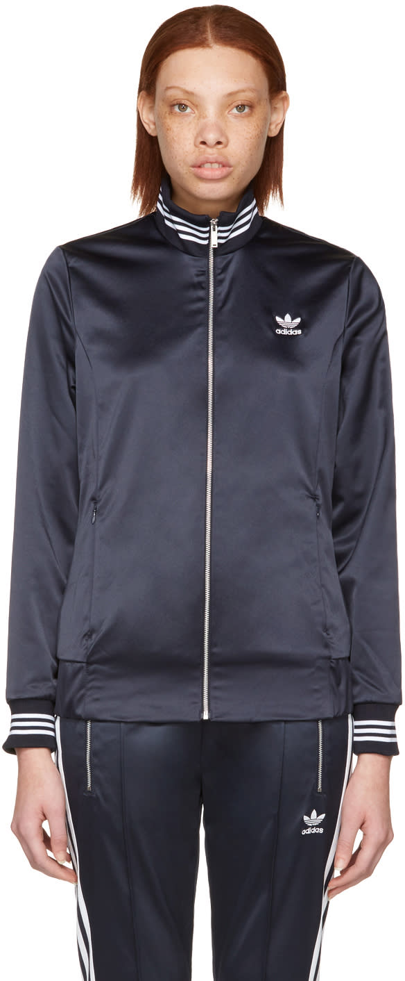 Adidas Originals Navy Zip-up Track Jacket