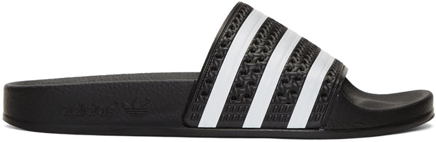 Adidas Originals Black Adilette Slide Sandals