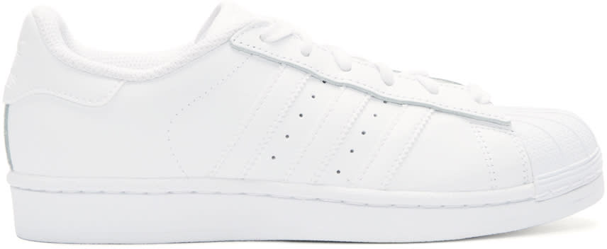 Adidas Originals White Superstar Sneakers