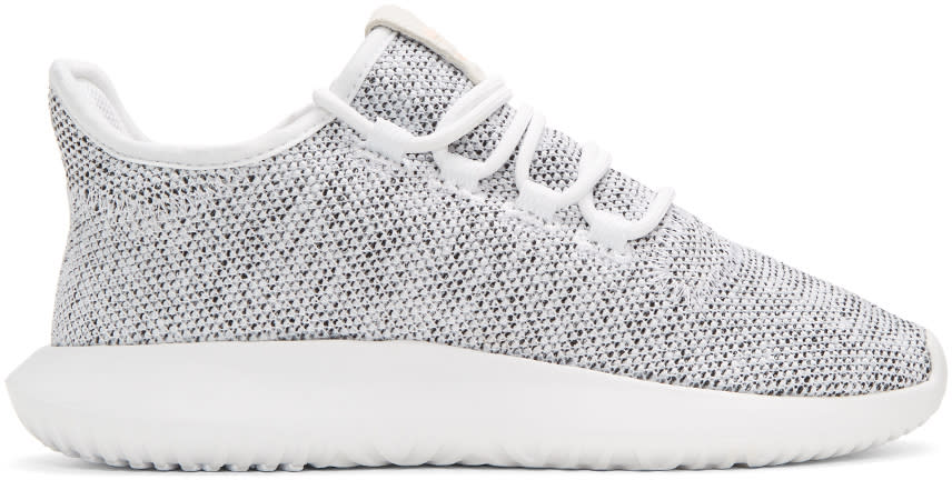 Adidas Originals White Knit Tubular Shadow Sneakers