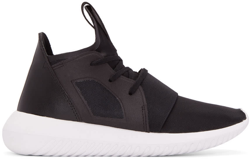 Adidas Originals Black Tubular Defiant Sneakers