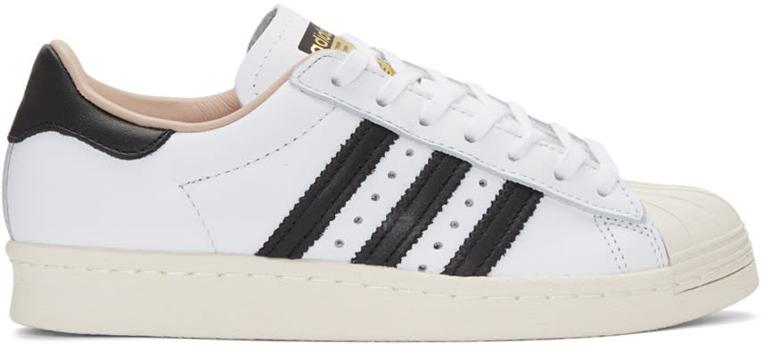 Adidas Originals White Superstar 80s Sneakers