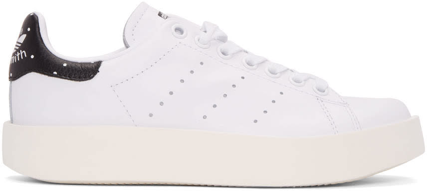 Adidas Originals White Stan Smith Bold Sneakers