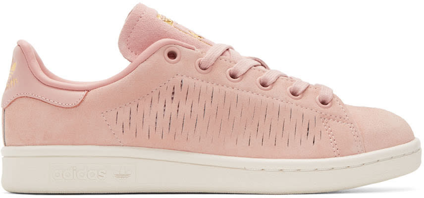 Adidas Originals Pink Suede Stan Smith Sneakers