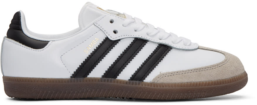 Adidas Originals White Samba Original Sneakers