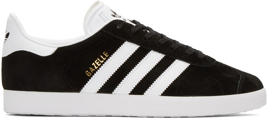 Adidas Originals Black Gazelle Sneakers