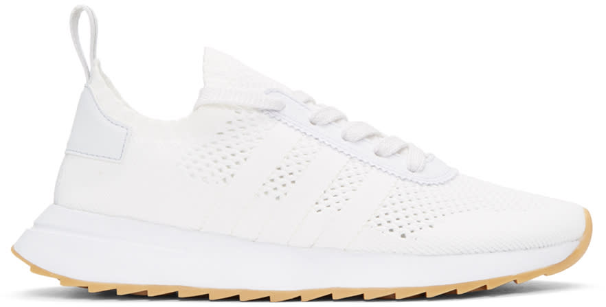 Adidas Originals White Flashback Sneakers