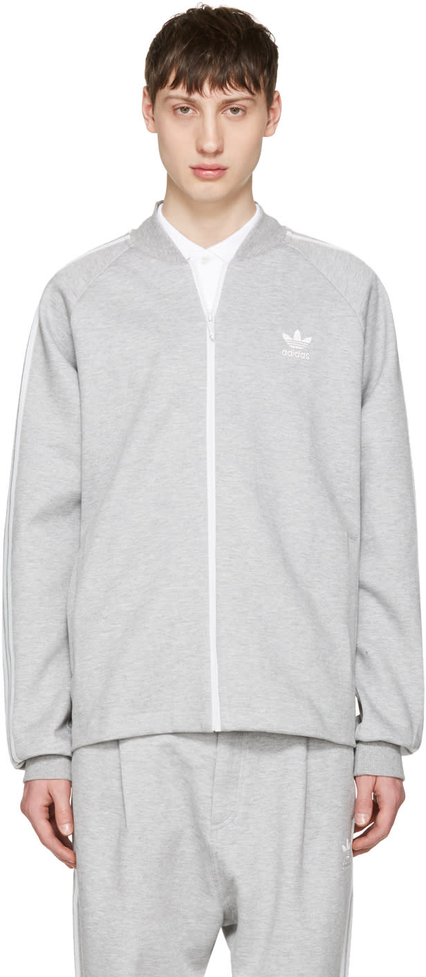 Adidas Originals Grey Sst Premium Zip Sweater