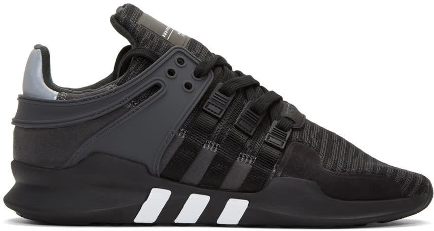 Adidas Originals ブラック Eqt サポート Adv スニーカー